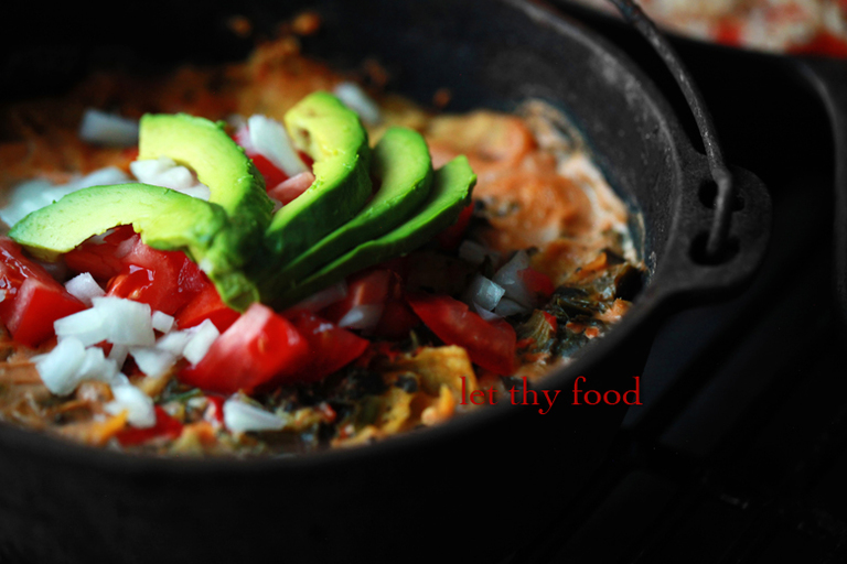 Chile con Queso Skillet Enchiladas Starring Let Thy Food Chile con Queso