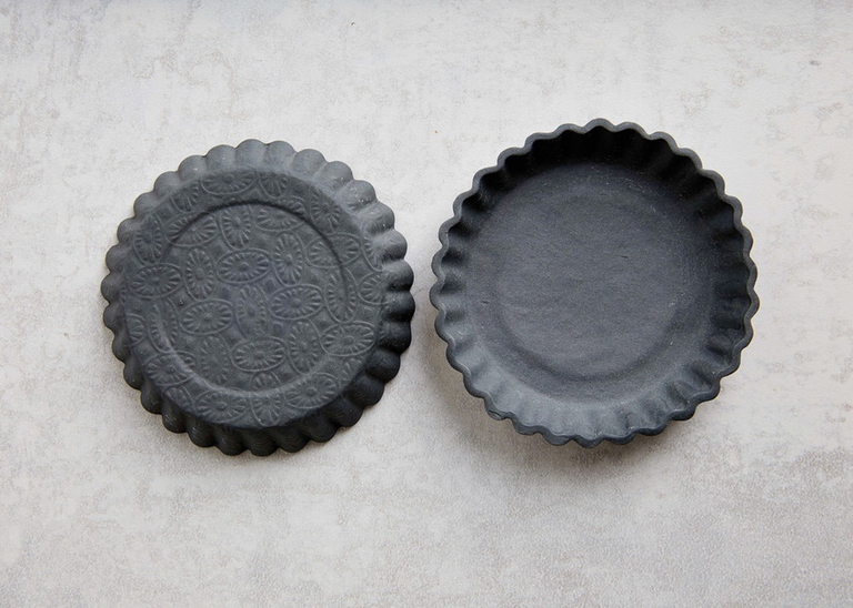 Kate Lewis Made Embossed Charcoal Dish